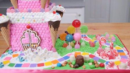 王子送给公主的城堡,翻糖生日蛋糕