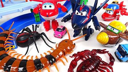 最强战士 超级飞侠3 乐迪 酷飞 蜈蚣蜘蛛和蝎子 巴士玩具和昆虫 小汽车欧力 卡通玩具 新的2017最强战士