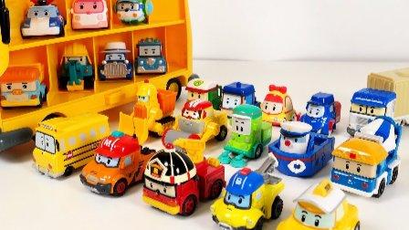 车珀利 汽车人装配  变形警车珀利 玩具汽车 小汽车玩具游戏 幻灯片