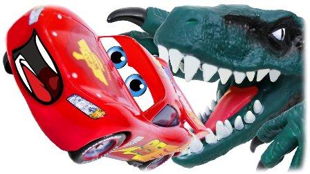 恐龙玩具 恐龙吃车 玩具总动员 迪斯尼玩具车 恐龙和玩具车