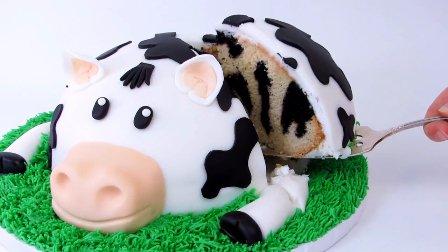 如何制作一头小奶牛生日蛋糕