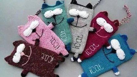 第15集 加菲猫手机袋零钱包 编织教程