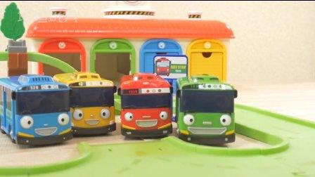 可爱的小巴士泰路 绿色铁路课程巴士玩具 韩国南山路玩具  § 垣垣玩具 §