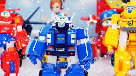 超级飞侠包警长机器人套装