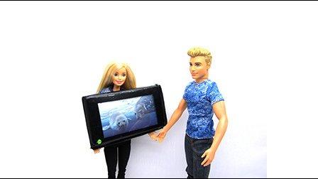 琪琪娃娃手工艺品做电视机给芭比娃娃 叶罗丽娃娃 可儿娃娃 肯ken