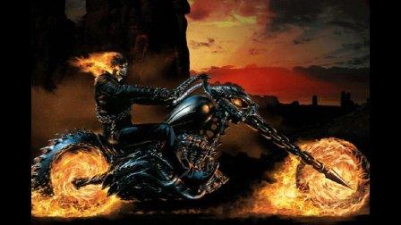燃烧的骷髅战士 追杀恶魔 用铁链将其打入地狱