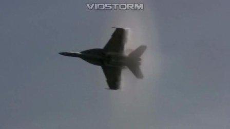 实拍: 战斗机超低空飞行, 突破音障视频集锦