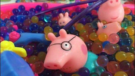 亲子游戏小猪佩奇玩泡大珠看看怎么长大