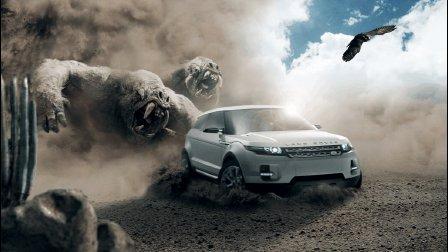 【PS中级教程】沙尘弥漫汽车广告场景合成教程快速预览——大中课堂