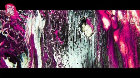 顶级创意银河之门油彩水墨如行星般的晕染