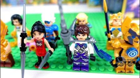 【玩趣秀】将牌王者荣耀游戏积木玩具, 最后两款夏侯惇和貂蝉! 终于可以解脱了!