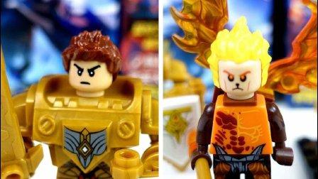 【玩趣秀】王者荣耀游戏玩具, 圣骑之力亚瑟和齐天大圣孙悟空, 两个人仔, 一好一坏!