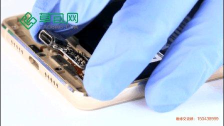 小米4S拆机换尾插小板-充电接口 拆解视频-草包网