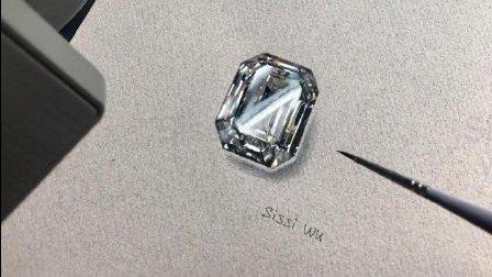 珠宝设计手绘过程 看完我也想画了