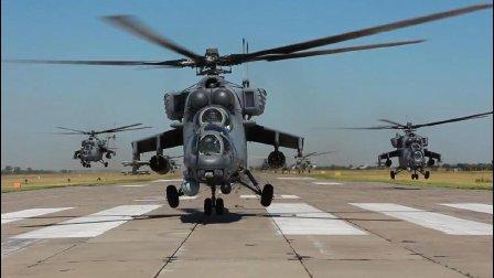 也玩密集阵! 俄罗斯航空直升机大队集群演练