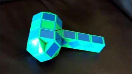 百变魔尺锤子折法视频教程——百变魔尺玩法集锦
