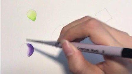 学绘画的马起来! 晕染(渲染)方法: 两种晕染方法(干纸和湿纸)!