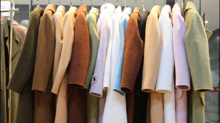 新款时尚冬装百分百羊驼绒大衣5件起批