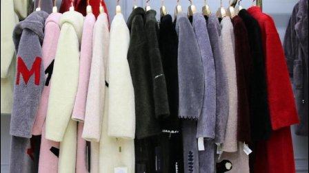 汇美女装批发-女士时尚冬装百分百澳洲羊剪毛大衣10件起批--715期
