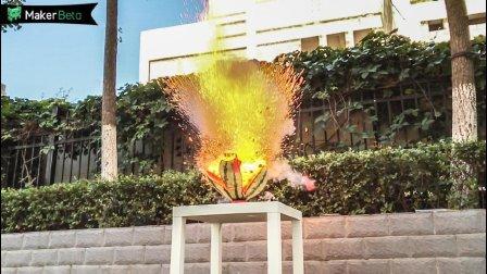 5公斤西瓜+钠, 还原小范围爆炸特效!