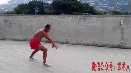台湾八极拳传人光膀子演练六大开, 看看功夫如何?