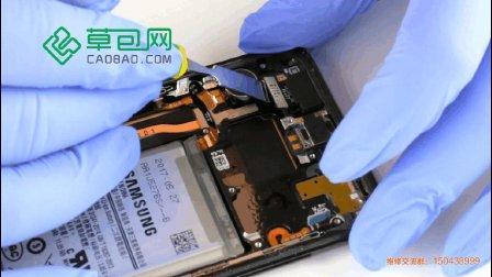 三星S8拆机更换前置摄像头教学教程GALAXY S8-草包网