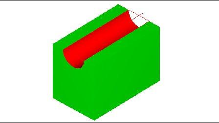 MasterCAM9.1 半圆槽(2D扫描加工)