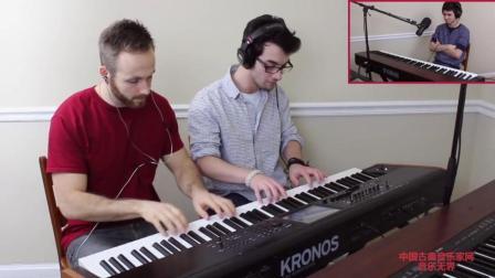 音乐无界: 你见过这么疯狂的钢琴战吗, 三位小哥的演奏简直太好听了!