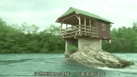 这小木屋洪水冲不垮, 50年在河中不倒, 每年大批游客前往!