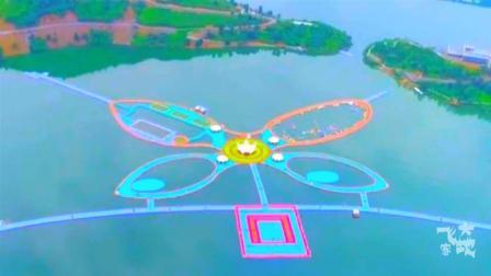 大地飞客: 航拍世界最长水上栈道, 由222500个浮体组成!