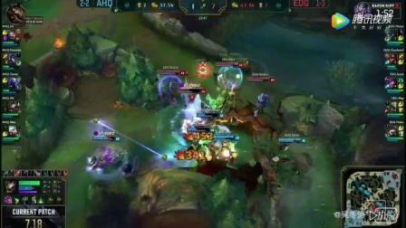 2017英雄联盟全球总决赛, EDG战队AD IBOY老鼠爆炸输出, 赢下比赛