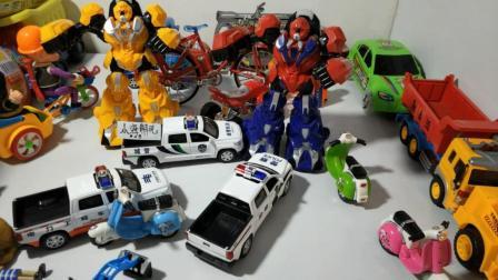 挖掘机 工程车 玩具视频 熊出没玩具