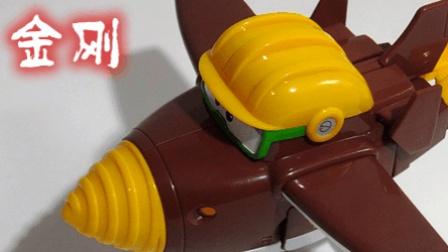 超级飞侠3玩具 变形机器人 金刚 飞机玩具