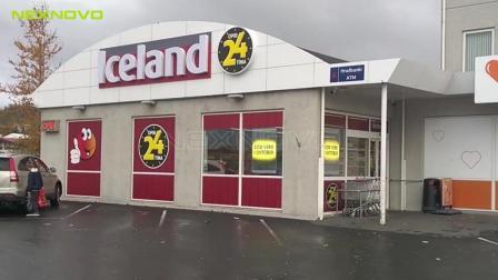 冰岛连锁店橱窗透明LED海报屏XT3M