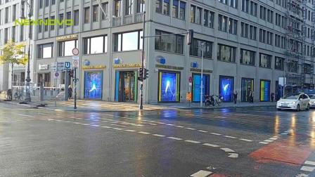 欧洲议会体验中心晶泓科技橱窗透明屏