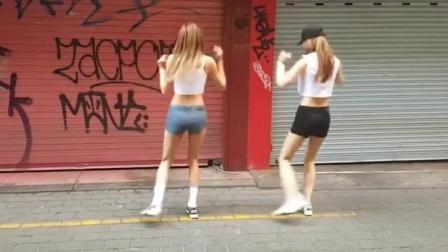 seve鬼步舞中最经典的美女齐舞视频! 好美