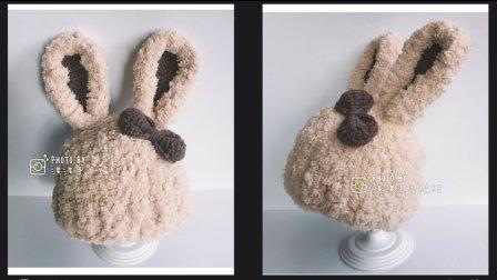 【第73集】秋冬绒绒线编织宝宝长耳兔帽子  耳朵部分
