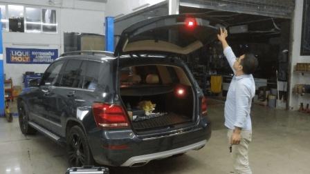 轻松驾驭后备箱 奔驰GLK改装电动尾门脚踢系统 TPSUV天派科技分享4008858040