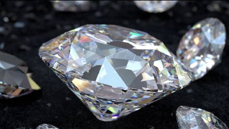 C4D 渲染钻石 87time Octane render 渲染教程案例