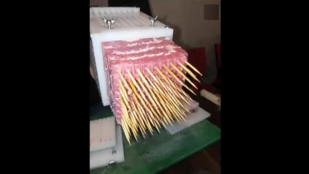 原来烧烤摊是这样做肉串的