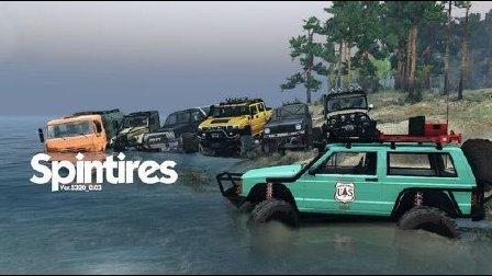 【小斯解说】旋转轮胎:泥泞奔驰 娱乐日常开车越野模式解说 任务模式解锁车辆 Spintires MudRunner