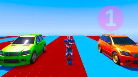 漂亮的彩色汽车爱奔跑2
