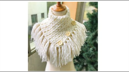Elaine手作 第55集 冬日流苏纽扣围巾的钩织