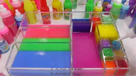 亲子游戏, 给弟弟一个彩虹色的泡泡澡, 有趣的粘液玩具