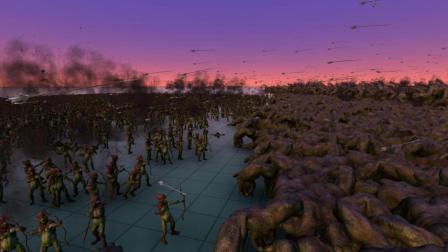 史诗战争模拟器游戏 1万精灵vs1万独眼巨人