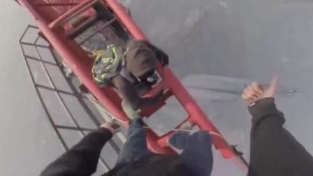 高空挑战, 实拍各类作死惊险瞬间, 稍有不慎死于非命!