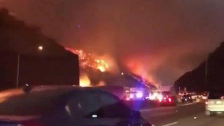 美国洛杉矶大火仍在持续, 现场壮烈如世界末日, 数百居民被迫撤离