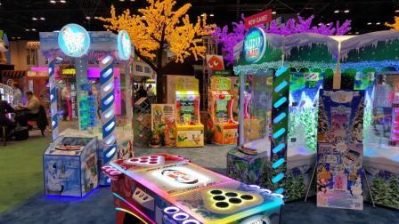 磁悬浮儿童钓鱼机 在美国游乐设备展 展出