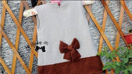 女童后系扣背心裙(2)