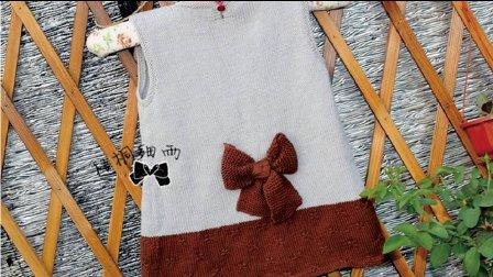 女童后系扣背心裙—小蝶(3)